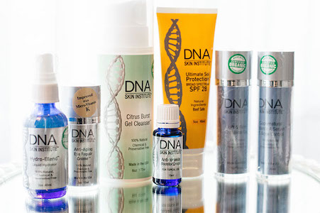 DNA Skin Care Selection of Bottles