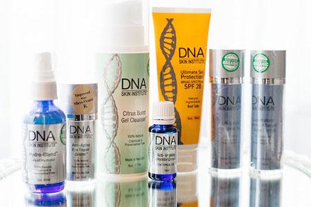 DNA Skin Care Selection of Bottles